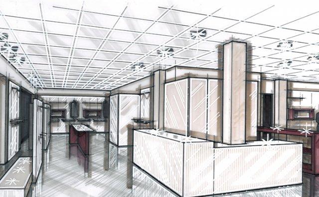 Arredamento negozi arredo uffici bar e ristoranti for Progetto arredo
